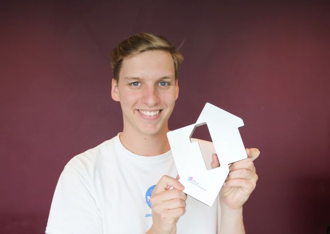 George Ezra with his Official Number 1 Single Award from the Official Charts Company for Shotgun [Credit: officialcharts.com]